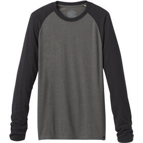 Prana Baseball Raglan T-Shirt Men charcoal heather